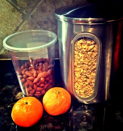 Fruits, grains and nuts.